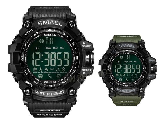 Relógio Smael Pedômetro Bluetooth Prova D´água 5 Atm