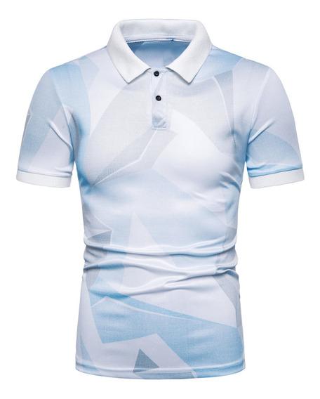 Camisa De Manga Corta Con Estampado De Verano Para Hombre Ca
