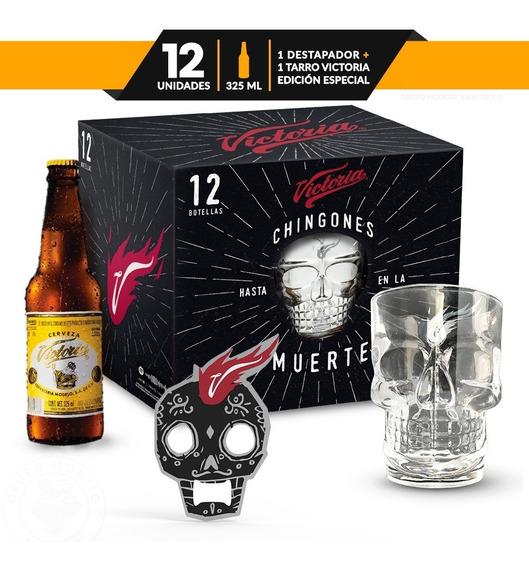 Pack Especial De 12 Cervezas Victoria De 325ml C/u + Tarros