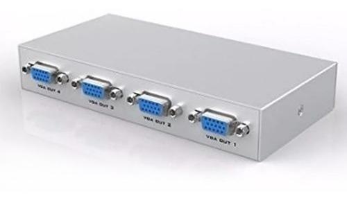 Amplificador De Video Vga Splitter 1 X 4 1 Entrada 4 Salida
