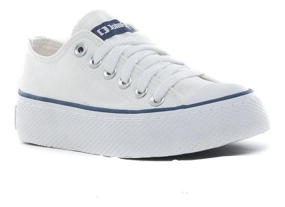Zapatillas John Foos 752l Plataforma Blanca Mujer - Moda