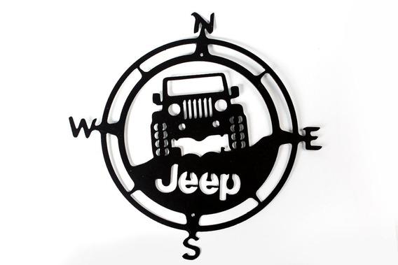 Quadro Decorativo Bussola Jeep