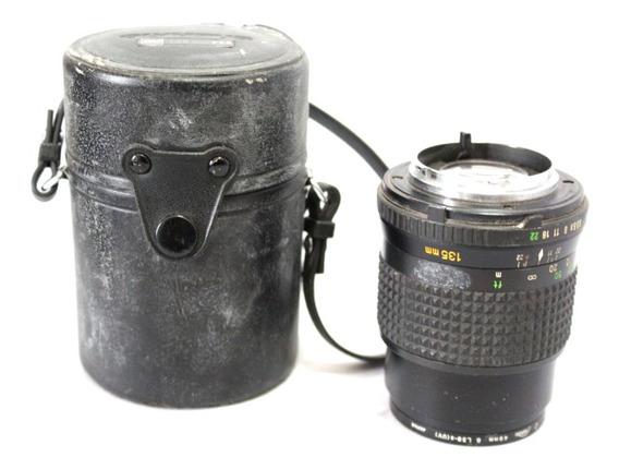 Lente Minolta 135mm 3.5 Japan Retro Coleção Retirada De Peça