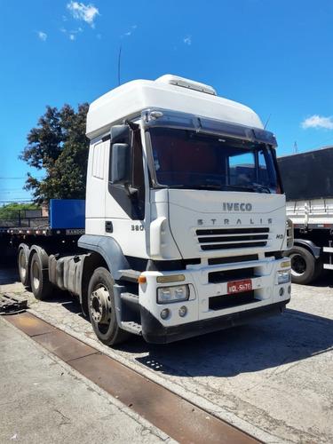 Imagem 1 de 9 de Caminhão Iveco Stralihd 6x2   Teto Alto Ano 2005