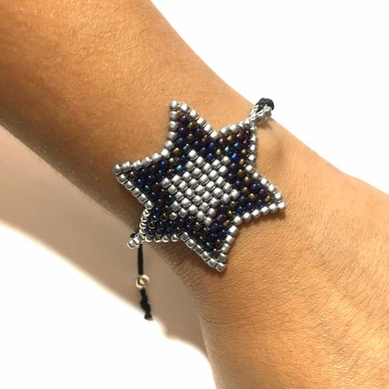Pulsera Estrella Accesorios Huichol Moda Miyuki Bisutería
