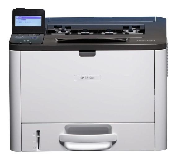 Impressora Ricoh Sp-3710dn 3710 Laser Mono Rede E Duplex .