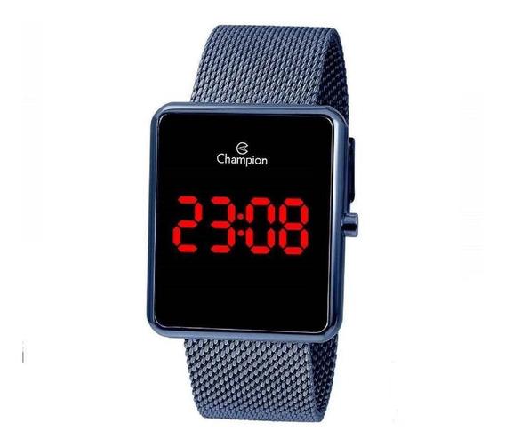 Relógio Digital Feminino Champion Azul Ch40080f + Nf