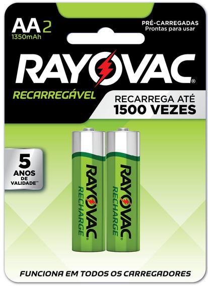 Pilha Recarregável Rayovac Aa C 2unds