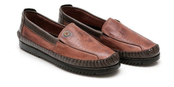 Sapato Sapatilha Masculino Em Couro Preto Marrom Oferta