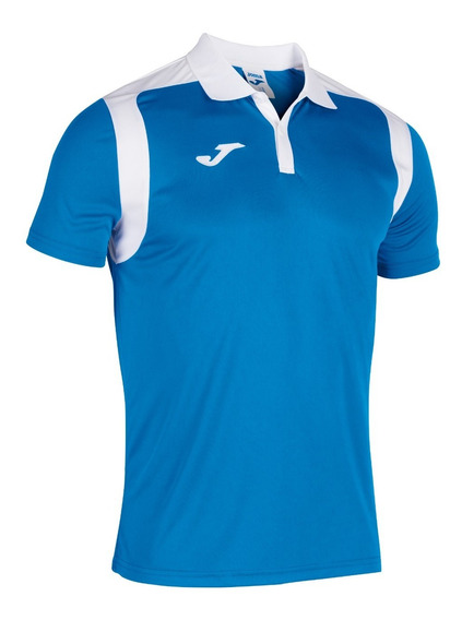 Playera Polo Joma Champion Royal-blanco