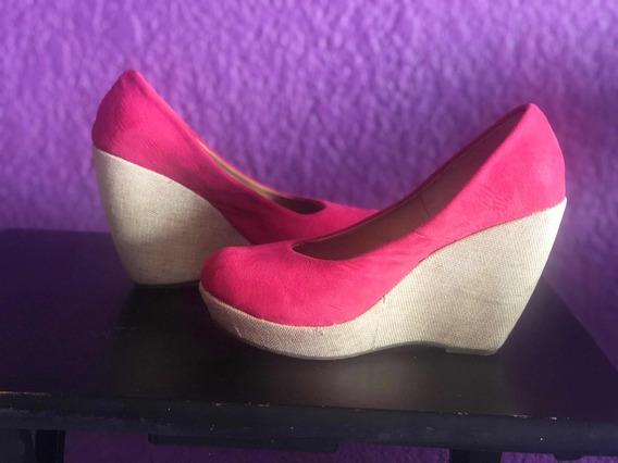 Zapato De Plataforma Coral Vintage De Ante