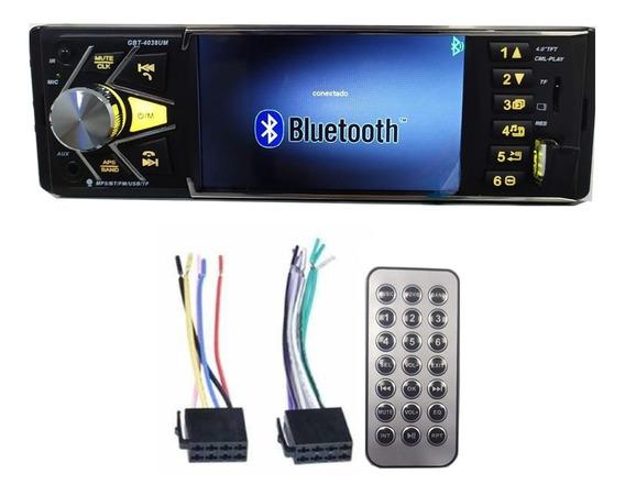 Stereo Para Auto Con Pantalla Bluetooth Usb Potente Radio Fm