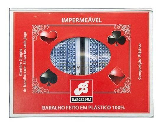 Baralho De Plástico 100% Impermeável Cartela Com 2 Unidades
