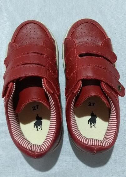 Tênis Polo Casual Infantil Vermelho