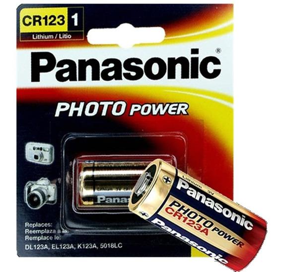 04 Bateria Pilha 3v Cr123a Lithium Photo Original Panasonic