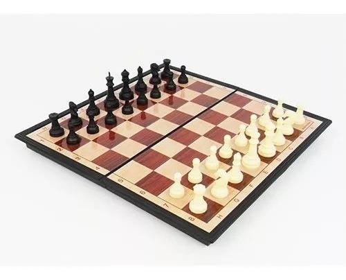 Jogo De Xadrez Magnético C/32 Peças Imantadas Dsc02837-1