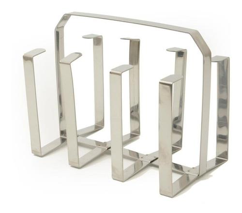 Imagem 1 de 8 de Escorredor De Copos Inox Porta 8 Copos Design Oferta Promo