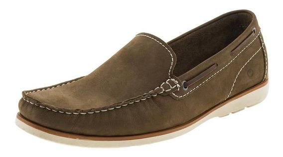 Sapato Masculino Mocassim Taupe Democrata - 135101