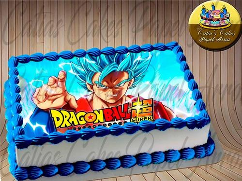 Dragon Ball Z Papel De Arroz  Para Bolo Vários Modelos
