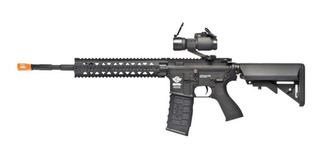 Rifle Airsoft G&g Cm16 R8-l + Mira Holográfica + Nf Garantia