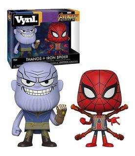 Funko Pop Vynl. Thanos + Iron Spider Avengers Infinity War