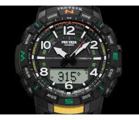 Relogio Casio Protrek Prt-b50-1er Bluetooth Termometro Altim