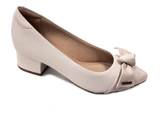 Zapato Mujer Modare Moño Taco 5cm Punta Charol Plizado