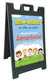 Placas Publicitárias Henri Park Rotomoldada, Cavalete, Menu