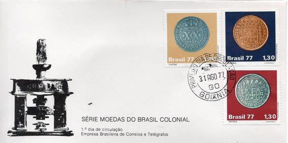 Fdc 1977 - Moedas Do Brasil Colonial - Selos #129