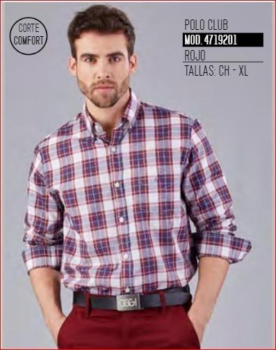 Camisa Polo Club Rojo Top Hombre 4719201 Oggi 2-19 H