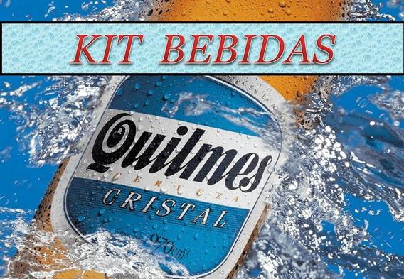 Kit Imprimible Etiquetas Bebidas Super Completo Editables
