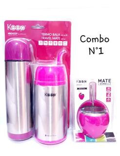 Combo Mate Listo + Mate Con Bombilla 230ml Keep
