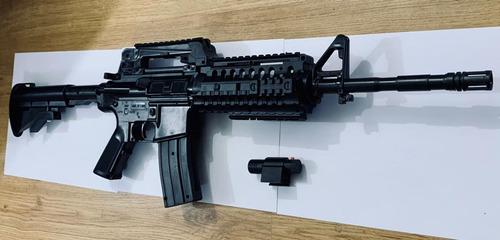 Arma Rifle Metralleta Tipo R15 M16 M4 Airsoft 6mm Accesorios