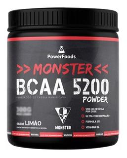 Bcaa 5200 Monster Powerfoods 600g Original Lacrado