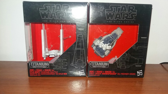 Kit 2 Naves Star Wars Black Titanium Die Cast Lacradas