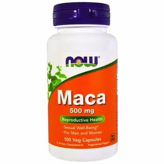 Maca Peruana(libido) 100cps 500mg Now Foods - Pronta Entrega