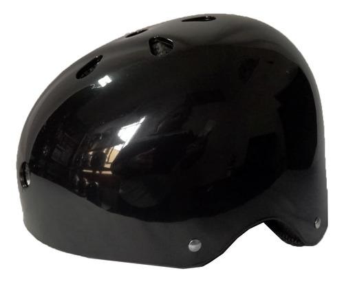 Casco De Bicicleta Adultos Negro Brillo Talla L