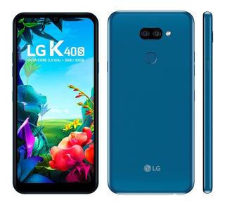 Celular Lg K40s Azul 32gb 6.1 4g Selfie 13mp 3gb Ram Octa