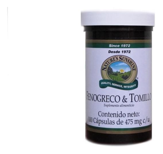 Fenogreco Y Tomillo 100capsulas Natures Sunshine