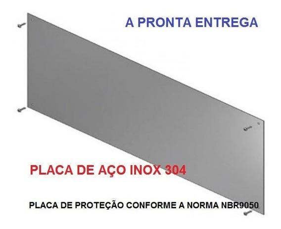 Chapa Placa Inox 304 Escovada Protecao Porta 40 X 100 Cm