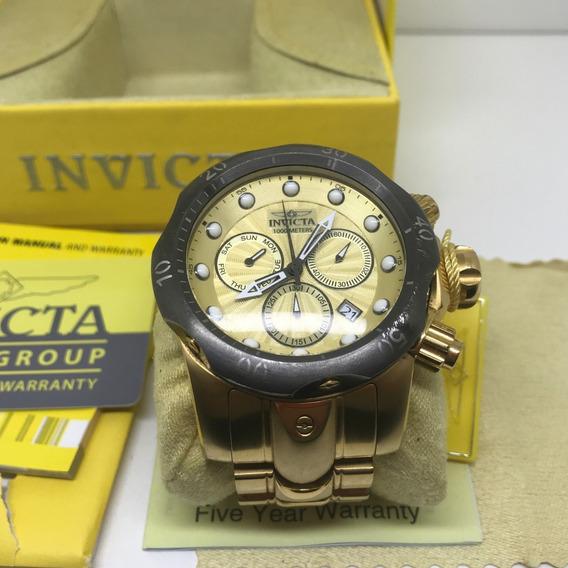 Relógio Invicta Venom Original Com Caixa Manual Dourado