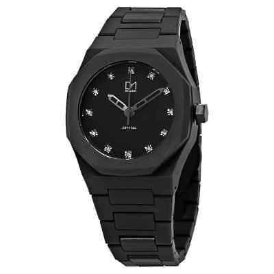 D1 Milano Polycarbon Crystal Black Dial Reloj Para Hombre A