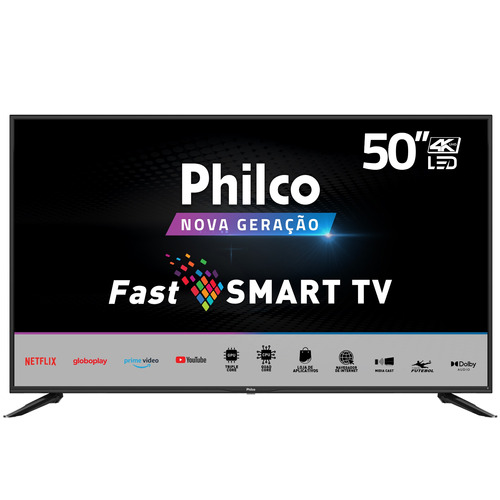 Imagem 1 de 6 de Smart Tv 50'' 4k Philco Uhd Ptv50n10n5e Led 4 Hdmi Midiacast