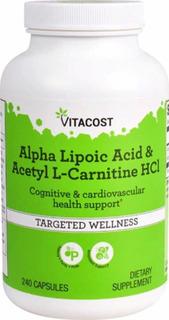 Acido Alfa Lipóico + Acetil L Carnitina 240 Caps - Importado