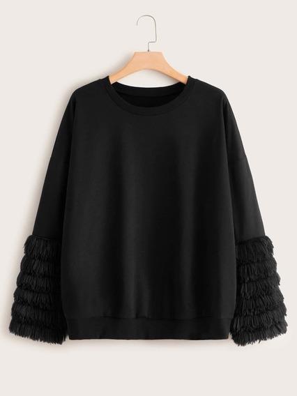 Sweater Plus De Piel Sintética 2xl