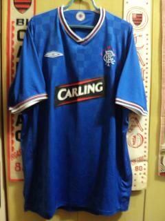 Camisa Glasgow Rangers ( Escócia / Umbro / Carling )