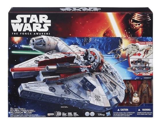 Nave Star Wars Hasbro Millennium Com Sons E Lançador Narf Pl