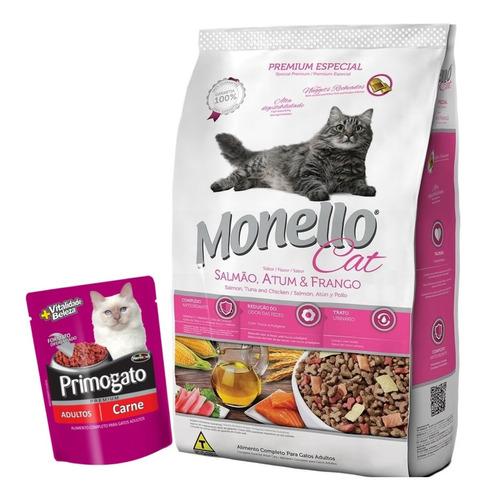 Imagen 1 de 2 de Monello Gato Adulto 7 Kg Con Pate Premium Primocao
