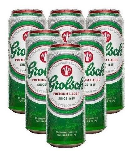 Imagen 1 de 6 de Cerveza Grolsch Lata X 473cc Pack X 18un