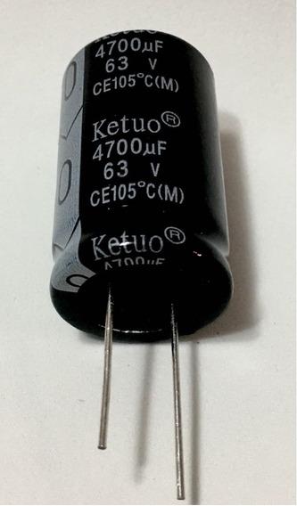8x Capacitor Eletrolitico 4.700uf X 63v (oferta )* 4700uf